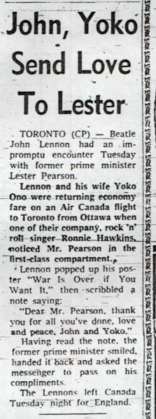 December 24, 1969 by the Canadian Press